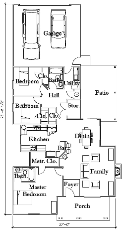 Sales Image, Flow Between Rooms, General Layout of House